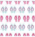 colorful striped flip flops seamless pattern vector image
