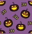 halloween seamless pattern vector image