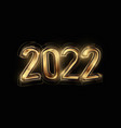 2022 happy new year with golden color and luxury vector image vector image