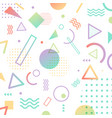abstract pattern pastel color geometric shapes vector image