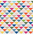 abstract pattern triangle colorful and gray dots vector image vector image
