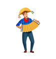 accordion player festa junina brazil june festival vector image