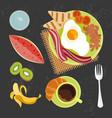 banner of breakfast vector image vector image