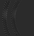 bike tire tracks background vector image vector image