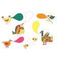 Birds and speak bubbles funny design vector image vector image