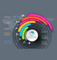 business infographics circle origami with shadow vector image