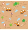 Cartoon cars seamless pattern Template for design vector image vector image