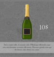 champagne beverage card template vector image vector image