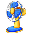 Close up electronic fan vector image