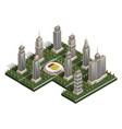 collection of skyscrapers isometric vector image