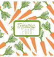 colorful poster of healthy food with background vector image vector image