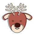 cute deer icon vector image