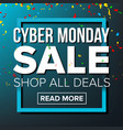 cyber monday sale banner business vector image