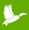 duck icon green vector image vector image
