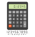 electronic calculator icon vector image vector image