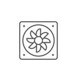 exhaust fan line outline icon vector image