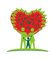 family parents and kid green ecology logo vector image vector image