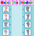 find the correct shadow vector image vector image