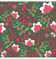 flower seamless pattern seamless vector image vector image