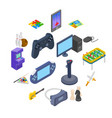 games icons set vector image vector image