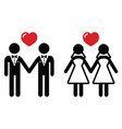 Gay marriage icons set vector image vector image