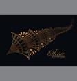 golden decorative ornamental mehndi style element vector image