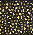 golden stars seamless background vector image