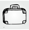 Hand drawn suitcase vector image vector image