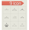 hanger icons set vector image