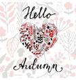 Hello Autumn background vector image
