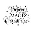 inspirational christmas quote vector image