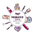 make up sketch vector image