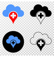 medical cloud eps icon with contour version vector image vector image