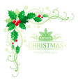 merry christmas and happy new year corner border vector image vector image