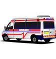 modern ambulance van over white colored vector image vector image