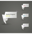origami paper banners for design eps 10 vector image vector image