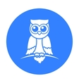 Owl icon black Singe animal icon from the big vector image vector image