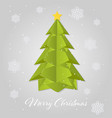 paper art christmas tree merry christmas vector image vector image