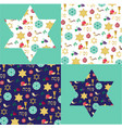 passover background patterns and stars with gold vector image vector image