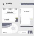 pen logo calendar template cd cover diary and usb vector image