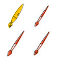 pencil icon set color outline style vector image vector image