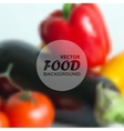realistic food background of different vegetables vector image vector image
