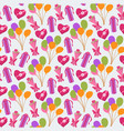 seamless cute balloon and gifts background vector image vector image