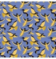 seamless pattern with birds in flat style vector image vector image