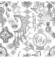 seamless pattern with magic objects vector image
