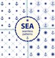 seamless patterns aqua background Set wallpaper vector image vector image