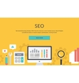 Seo Optimization Analysis Elements vector image vector image