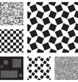 Set of abstract seamless patterns with squares vector image vector image