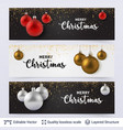 set of banners with shiny toy balls and text vector image vector image