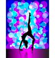 Sexy pole dancing vector image vector image
